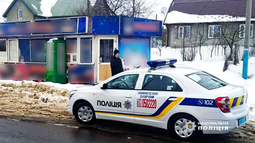 У Володимирі-Волинському підліток вломився в магазин, щоб викрасти сигарети. ФОТО