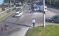 У Луцьку на перехресті сталася жахлива потрійна аварія. ВІДЕО
