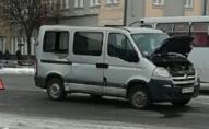 У Луцьку на площі зіткнулись бус та маршрутка. ФОТО