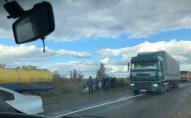 У Луцькому районі легковик злетів у кювет: рух дорогою ускладнено. ВІДЕО