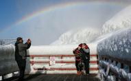 На кордоні США та Канади замерз Ніагарський водоспад. ФОТО