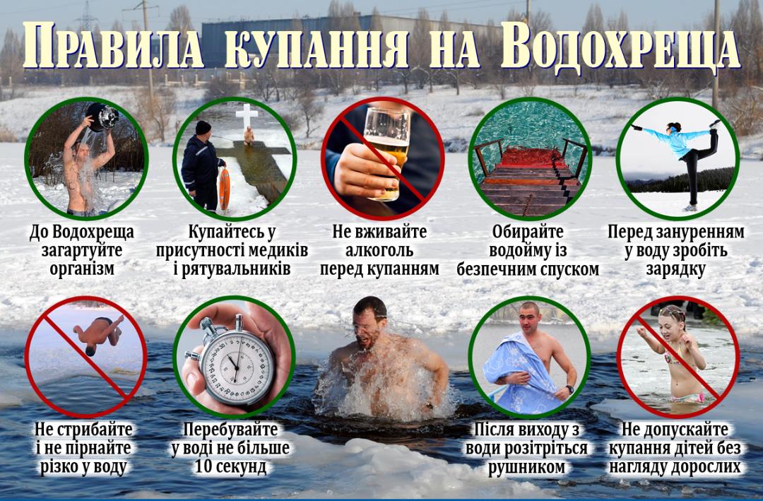Волинянам розповіли, як підготуватися до купання на Водохреща