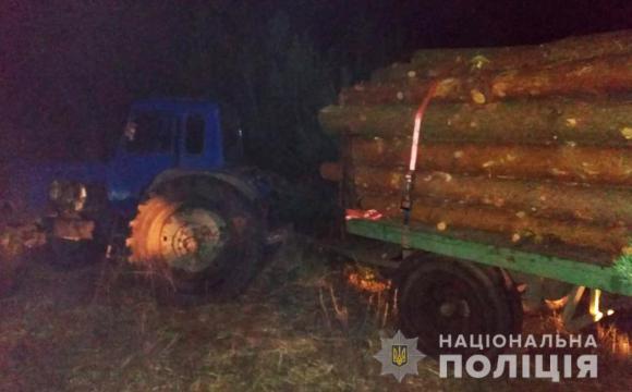 На Волині затримали вантажівку і трактор з незаконною деревиною. ФОТО