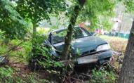 Автомобіль злетів з дороги через раптову смерть водія: його 7-річний син у лікарні. ФОТО