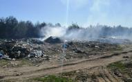 Через підпал сміттєзвалища на Волині згоріло п'ять гектарів самосійного лісу. ФОТО