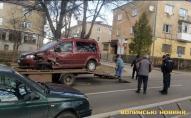 У Луцьку зіткнулися дві автівки. ВІДЕО