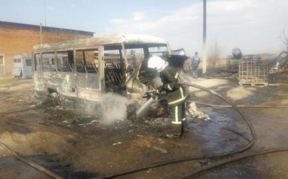 У Львівській області згоріли три автобуси