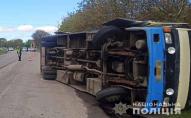Автобус «Дубно-Рівне» перекинувся з 20 пасажирами. ФОТО