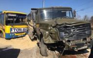 З'явилось відео моменту ДТП за участі вантажівки та маршрутки. ВІДЕО