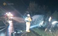 На трасі «Ковель-Жовква» перекинулася цистерна, водій отримав хімічні опіки. ФОТО