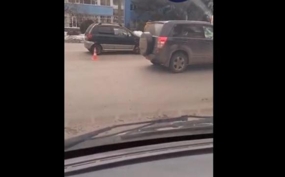 На проспекті Грушевського сталась ДТП. ВІДЕО