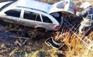 На Волині автівка злетіла в кювет - довелося викликати МНС. ФОТО