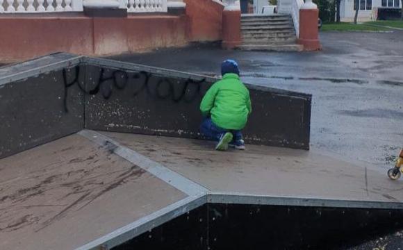 Ковельчани скаржаться на зіпсований дітьми скейтмайданчик. ФОТО