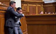 Заступився за команду: у Раді побилися Тищенко та Лерос. ВІДЕО