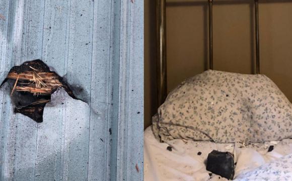 Пробив дах будинку: на подушку сплячої жінки впав метеорит