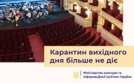 Міністр культури закликав громадян провести вихідні в кіно, театрах і ТРЦ
