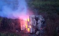 З'явилося відео моторошної аварії, де живцем згоріло троє дітей та дорослі