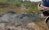 На Волині нечистоти зливають просто на землю. ФОТО