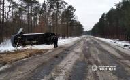 На Волині перекинувся автобус: постраждав 22-річний водій та 17-річна пасажирка