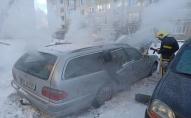 На Волині загорівся автомобіль. ФОТО. ВІДЕО