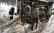 На Волині рятувальники витягли з кювету автівку. ФОТО. ВІДЕО