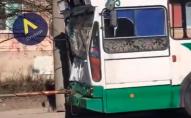 У Луцьку на Конякіна тролейбус потрапив в ДТП