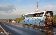 На Львівщині загорівся рейсовий автобус з 20 пасажирами. ФОТО