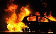Вночі на стоянці дотла вигорів автомобіль: підозрюють підпал. ФОТО