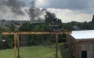 У Луцьку неподалік заводу «Хімпласт» виникла пожежа. ВІДЕО
