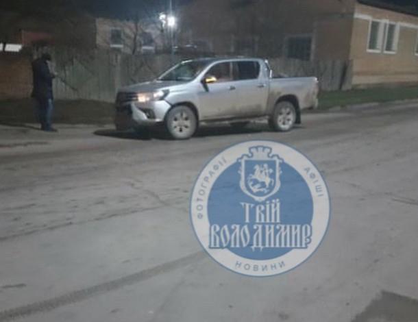 У Володимирі-Волинському ДТП за участю 2 автівок. ФОТО