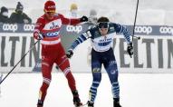 Скандал на Кубку світу: російський лижник вдарив фіна палицею, а потім збив з ніг. ВІДЕО
