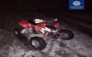 Луцькі поліцейські ловили втікача на квадроциклі