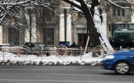 Прапори ДНР повісили на будинок культури в Києві