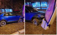 Коли корпоратив удався: п'яна водійка протаранила автівки та потрощила сітілайти. ВІДЕО