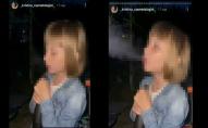 Тітка поганому не навчить: 7-річна дівчинка курила кальян. ВІДЕО
