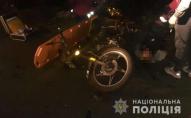 На Волині троє підлітків на мотоциклі врізались у легковик. ФОТО