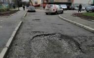 У Луцьку скаржаться на жахливу дорогу біля школи. ФОТО
