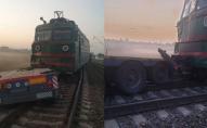 Постраждала чергова по переїзду: подробиці нічного зіткнення вантажівки і поїзда. ФОТО