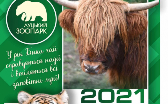 Луцький зоопарк випустив фірмовий календар з тваринами. ФОТО