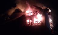 На Прикарпатті вночі загорівся готель. ФОТО