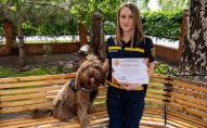 В Україні пес отримав диплом терапевта
