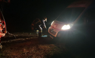 Як на Волині посеред ночі рятувальники швидку рятували. ВІДЕО
