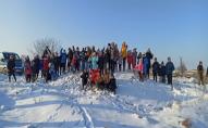 Поїзд з 40 санчат: на Волині встановили новий зимовий рекорд. ФОТО. ВІДЕО