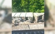 На «Укрзалізниці» трапилася аварія: зійшли з рейок та перекинулися 18 вагонів
