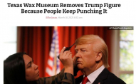 Музей воскових фігур прибрав побитого Трампа у сховище