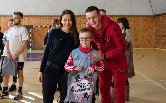 За підтримки «Parimatch Foundation» у Луцьку провели футбольне тренування для діток з особливими потребами