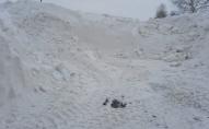 На Локачинщині сніг розчищають навантажувачами