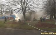 У Луцьку на території дитячої лікарні вранці трапилась пожежа. ФОТО