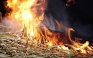 У селі під Луцьком згоріла тонна соломи