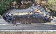 85-метрова ділянка автомагістралі обвалилася в Туреччині. ФОТО